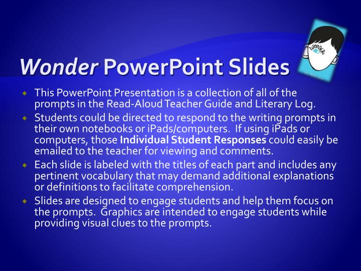 wonder powerpoint slides n.
