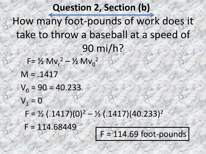 Question 2, Section (b)