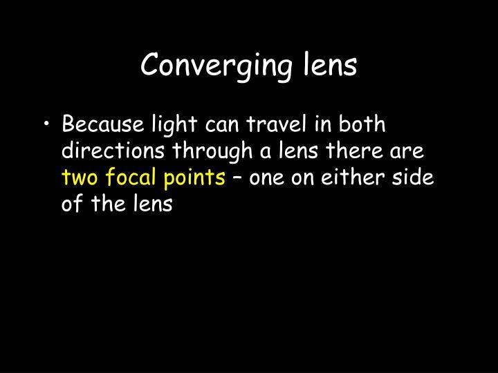Converging lens