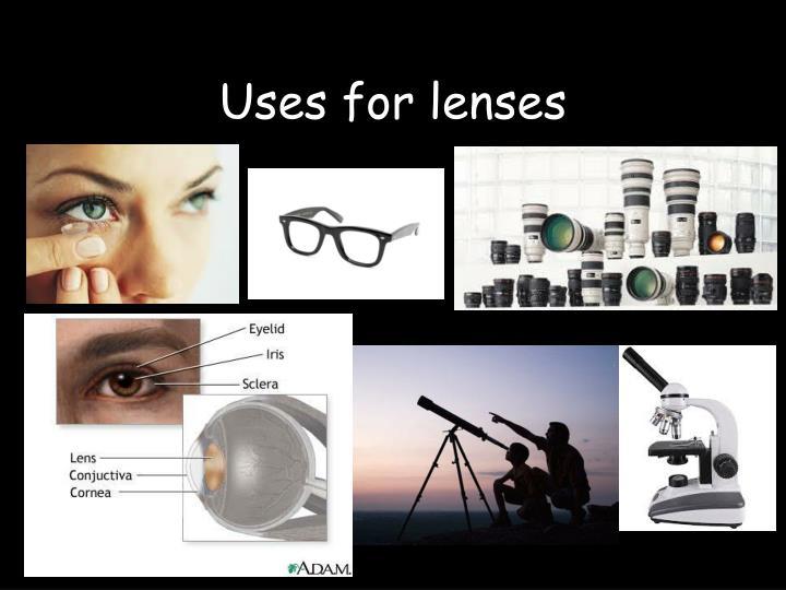 Uses for lenses