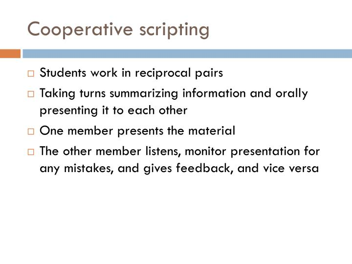 Cooperative scripting