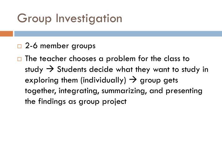 Group Investigation