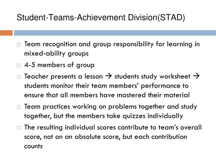 Student-Teams-Achievement Division(STAD)