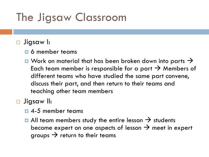 The Jigsaw Classroom