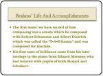 brahms life and accomplishments1