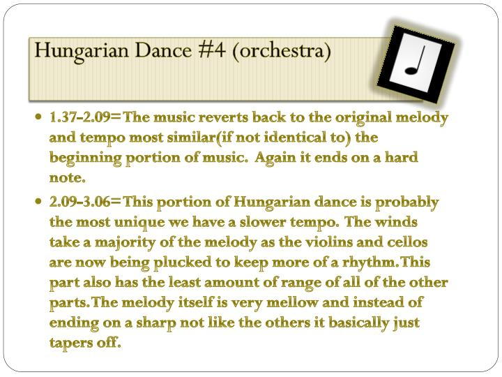 Hungarian Dance #4 (orchestra)