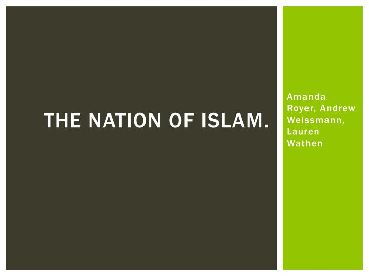 the nation of islam n.