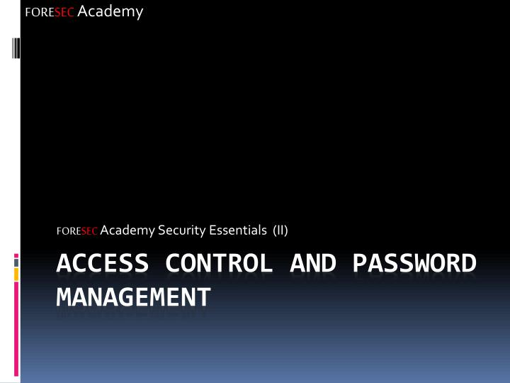 Fore sec academy security essentials ii