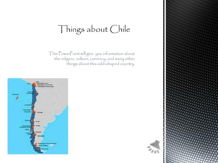 things about chile n.