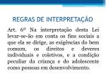 regras de interpreta o