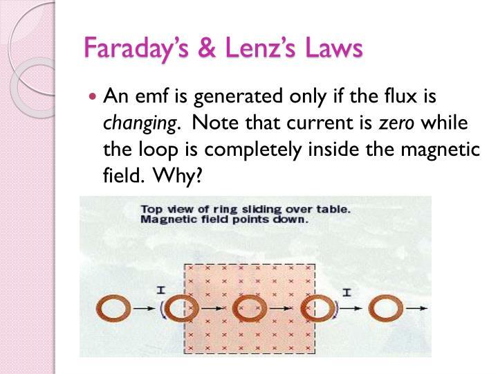 Faraday's & Lenz's Laws