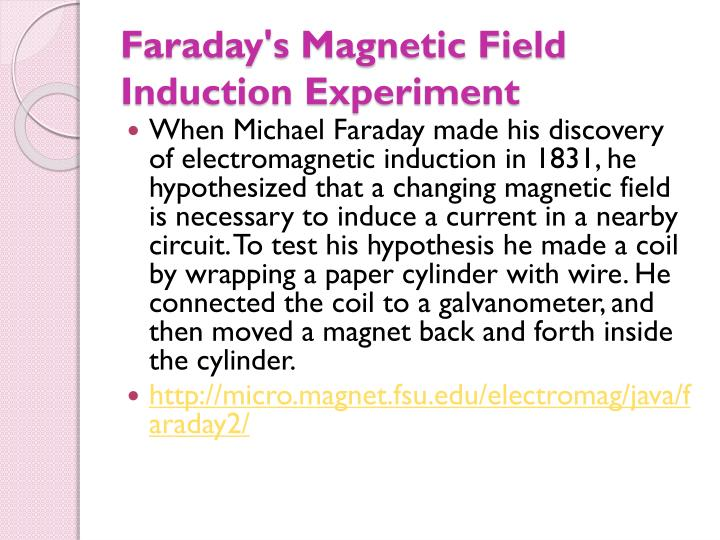 Faraday's Magnetic Field Induction Experiment