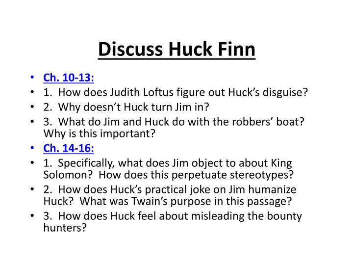 huck finn passage analysis