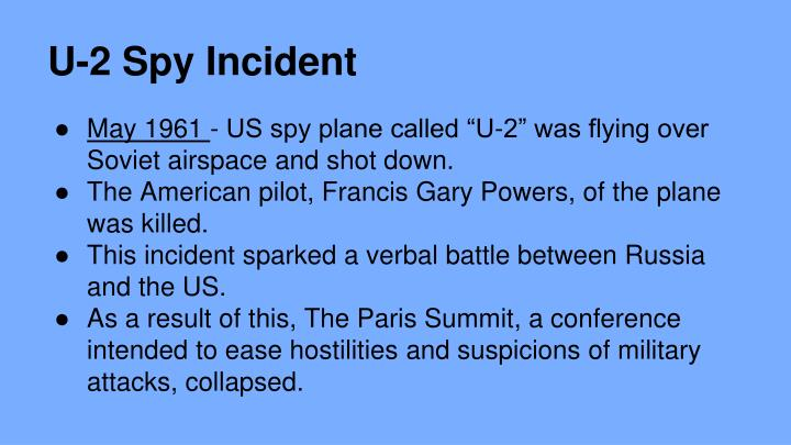 u 2 spy plane incident definition