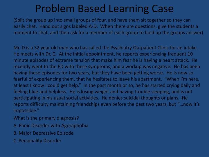 Problem Based Learning Case