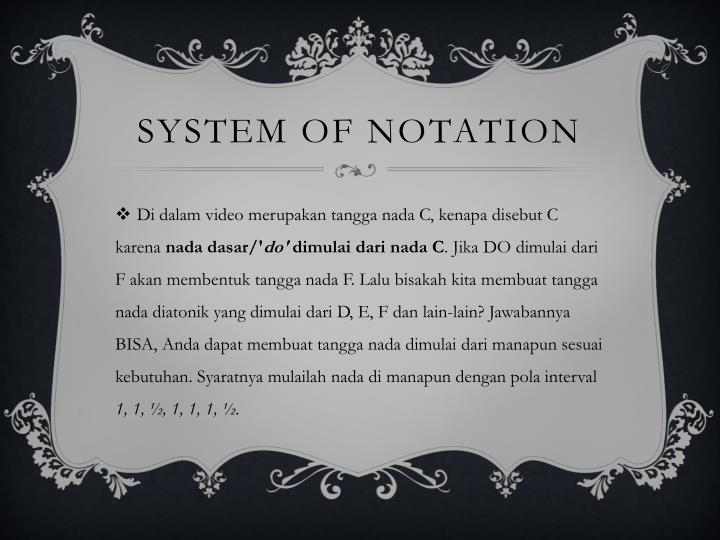 system of notation