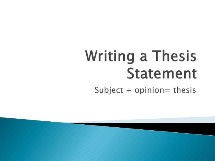 writing a thesis statement n.