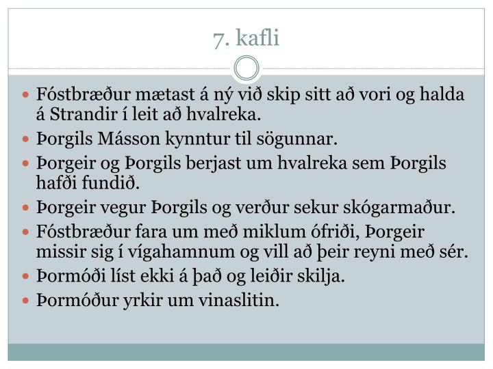 7. kafli