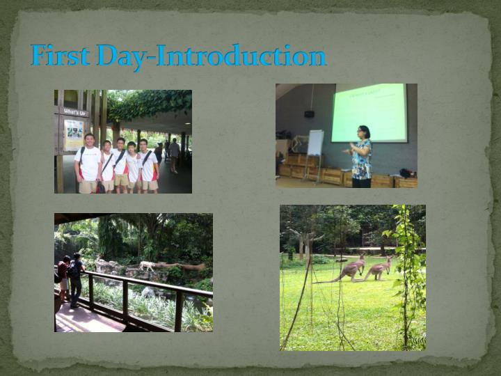 First day introduction