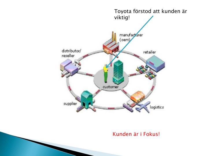 Toyota förstod att kunden är viktig!