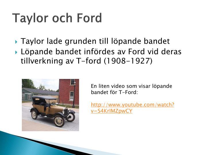 Taylor och Ford