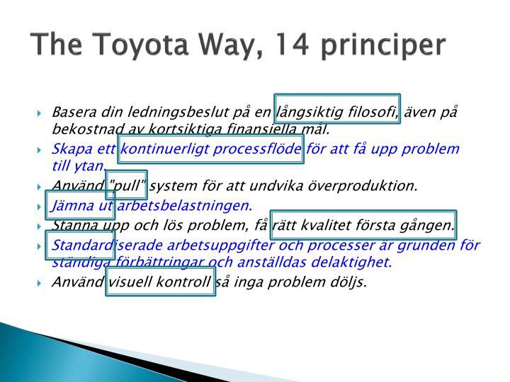 The Toyota Way, 14 principer