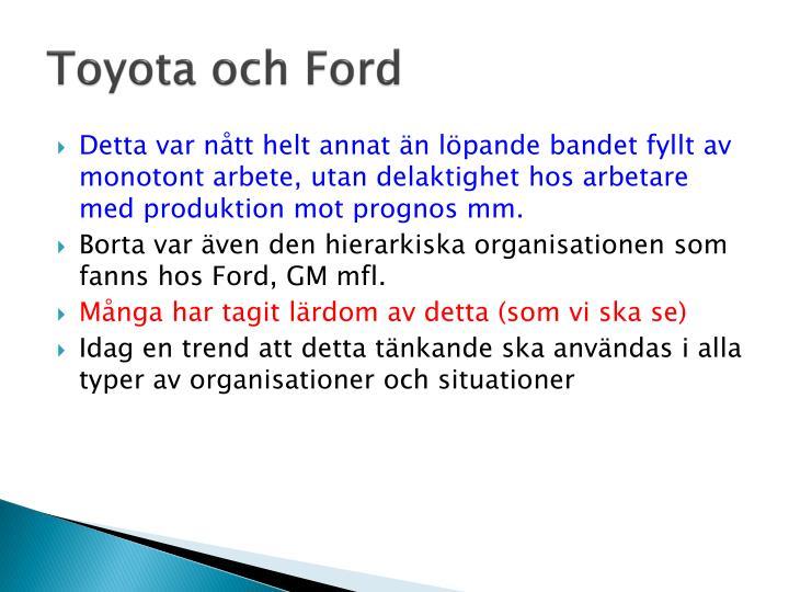 Toyota och Ford