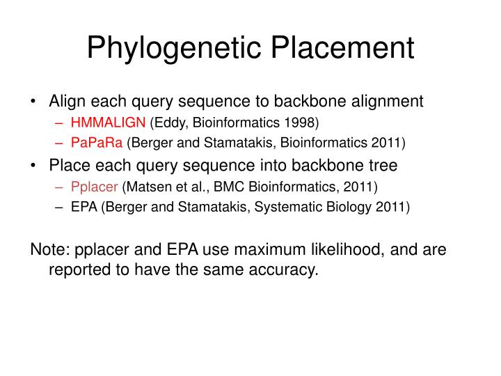 Phylogenetic Placement