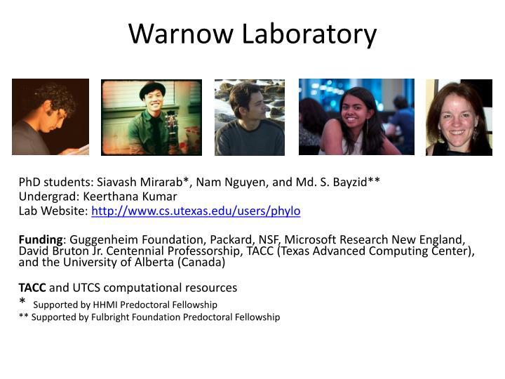 Warnow Laboratory
