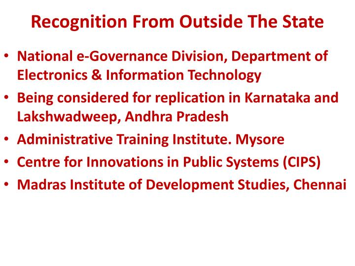 Recognition From Outside The State