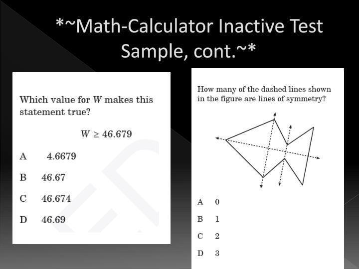 *~Math-Calculator Inactive Test