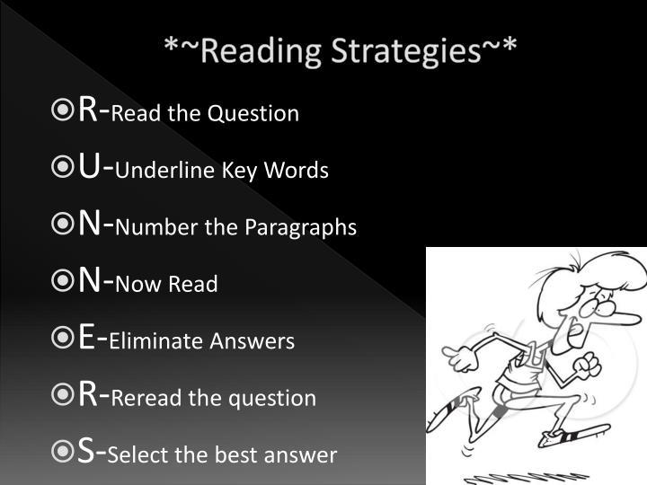 *~Reading Strategies~*