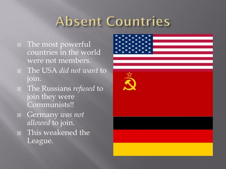 Absent Countries