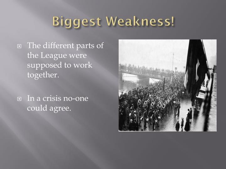 Biggest Weakness!