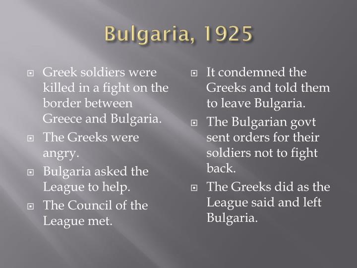 Bulgaria, 1925