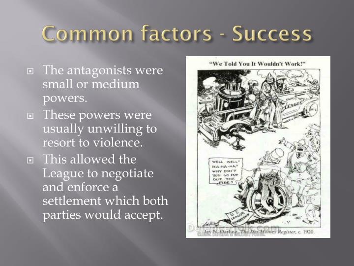 Common factors - Success