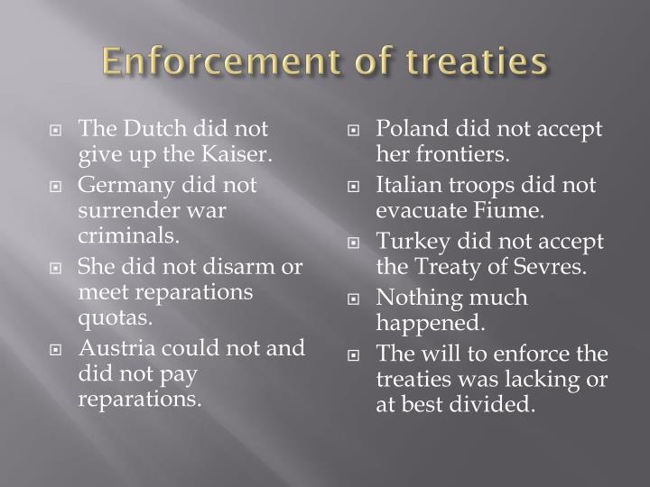 Enforcement of treaties