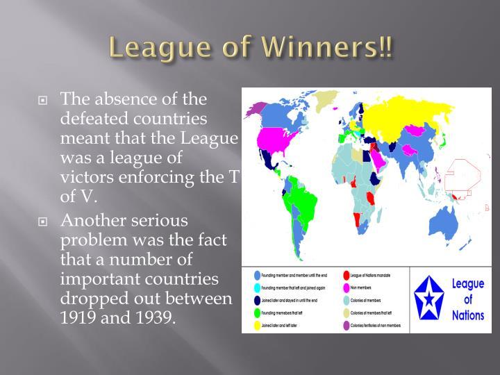 League of Winners!!