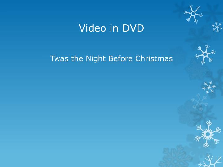 Video in DVD