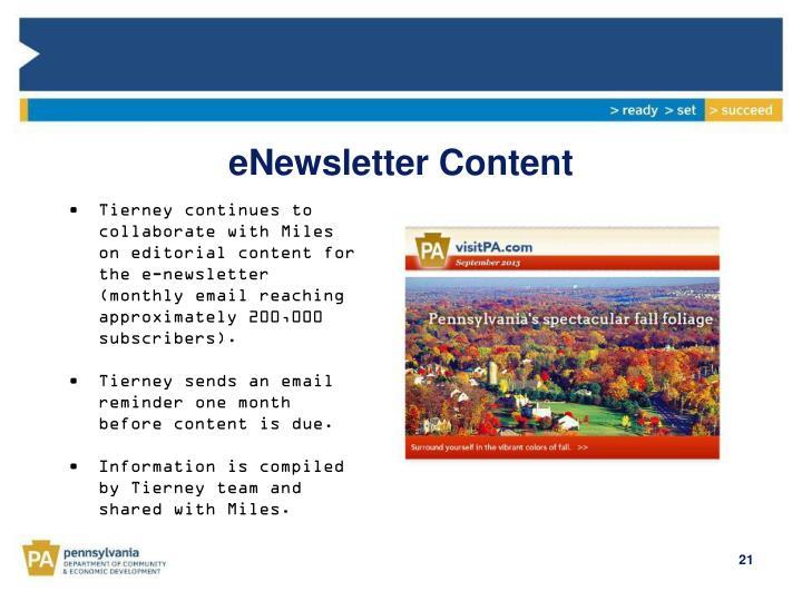 eNewsletter Content