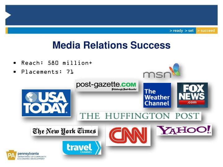 Media Relations Success