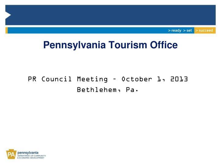 Pennsylvania tourism office