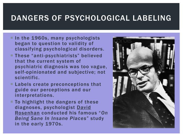 Dangers of psychological labeling