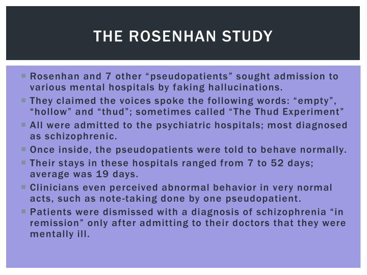 The Rosenhan study