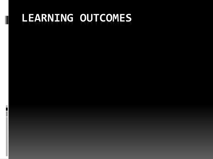 learning outcomes n.