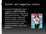poster and magazine covers