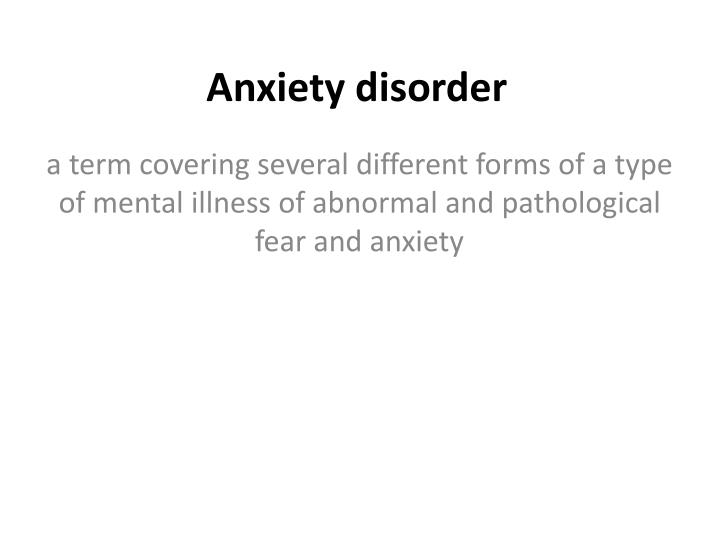 different types of disorders The 10 personality disorder types (list of personality disorders) have descriptive similarities that allow them to fit into one of the three cluster categories the american psychiatric association (apa) has suggested further investigation of an alternative model of categorization for the different personality disorders in hopes of adding.