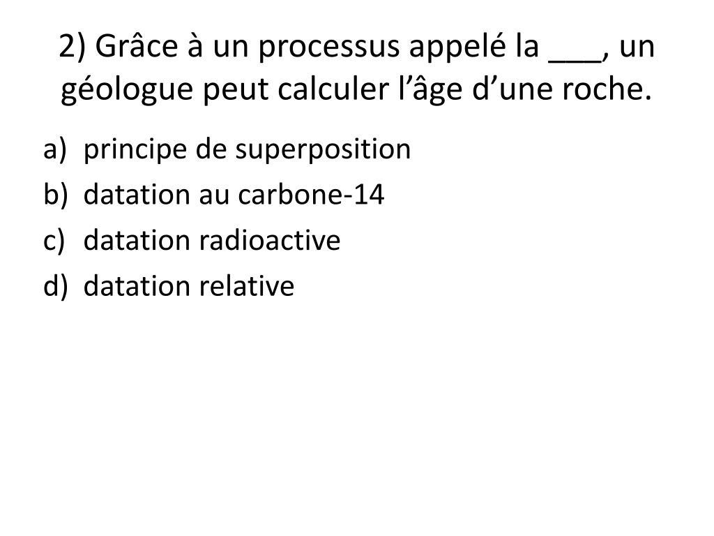 processus de datation radiométrique