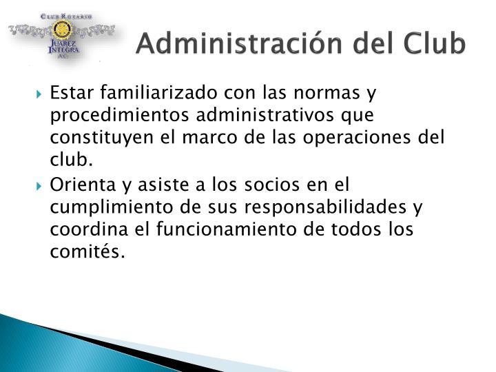 Administración del Club