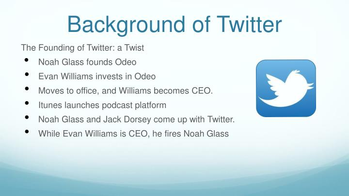 Background of twitter